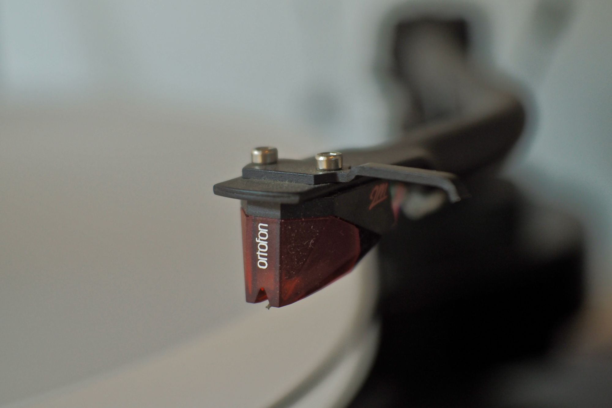 The Ortofon 2M Red as it was installed on my record player.