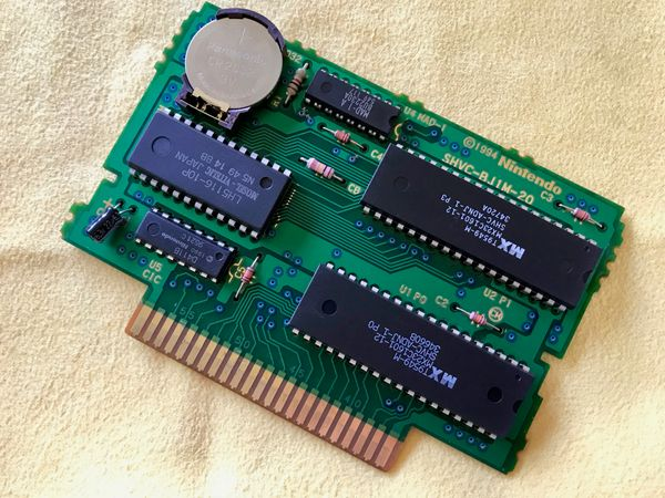 Video: Replacing the battery of a SNES game, or; Can I (Still) Solder?