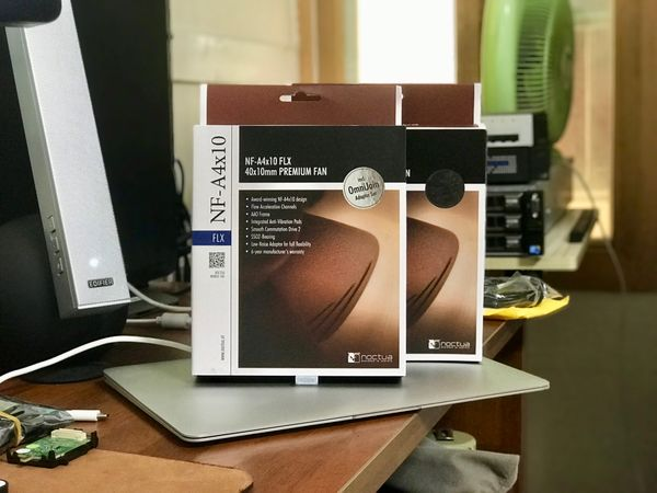 Installing Noctua 40mm fans in my router