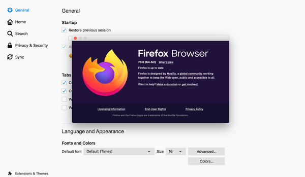 My Recommended Firefox Settings